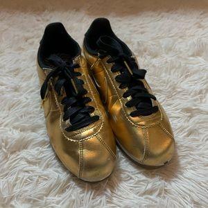 Classic Nike Cortez Metallic Gold Leather